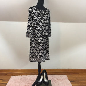 White House Black Market Geometric Shift Dress